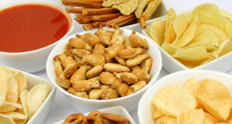 Les chips et gâteaux apéritifs