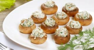 Bouchées apéritives aux champignons