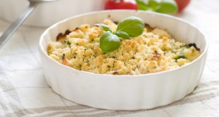 Crumble aux légumes et parmesan