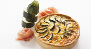 Quiche courgette, carotte et bacon