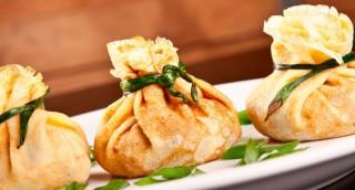 Aumônières de foie gras et pommes