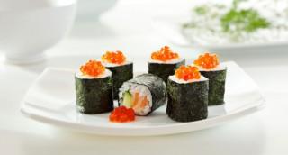 Makis de saumon et concombre