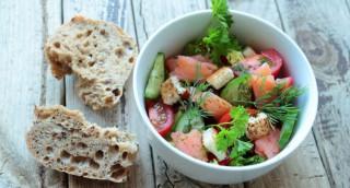 Salade de fenouil au saumon