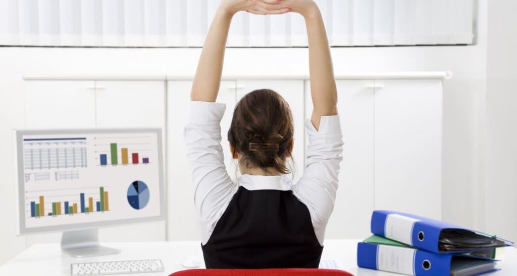exercices de gym à faire au bureau