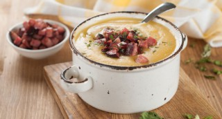 Soupe de potiron et chorizo