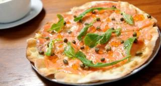 Pizza à la truite saumonée