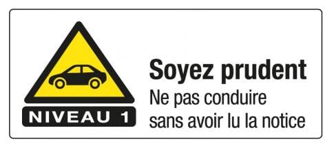 Pictogramme conduite niveau 1