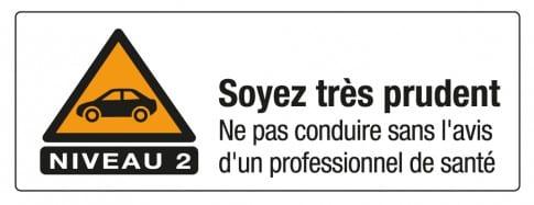 Pictogramme conduite risque niveau 2
