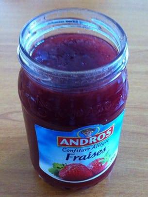 La Confiture de fraise allégée Andros