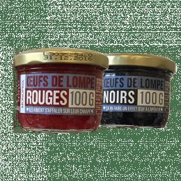 Oeufs de lompe noirs et rouges Monoprix