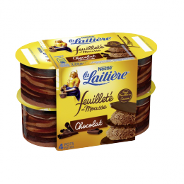 Feuilleté mousse chocolat