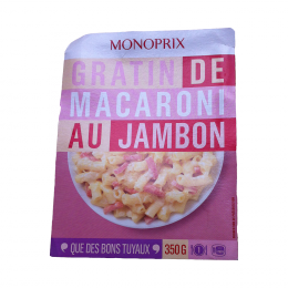 Gratin de macaroni au jambon