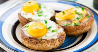 Champignon farci à l'œuf