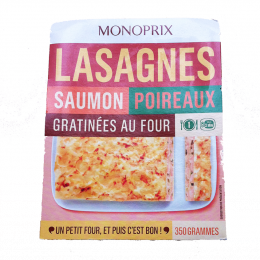 Lasagnes saumon poireaux Monoprix