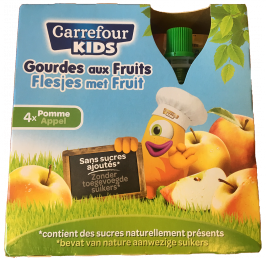 Gourde aux fruits Carrefour kids