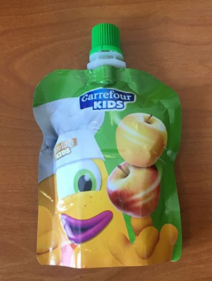 Les gourdes aux fruits Carrefour kids
