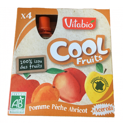 Compotes à boire Cool fruits Vitabio