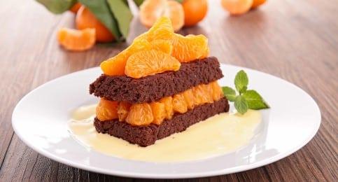 gâteau léger chocolat clémentine