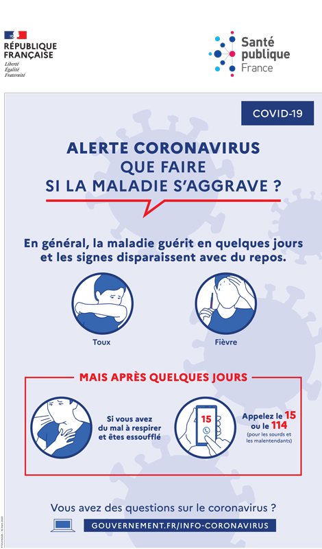 aggravation symptômes coronavirus