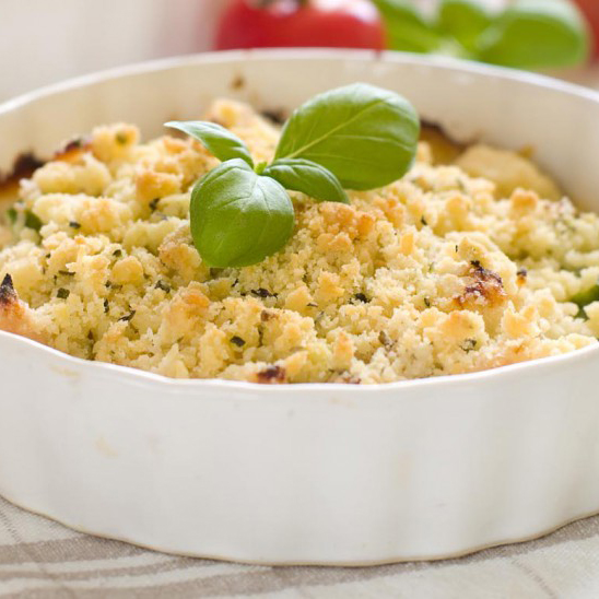 crumble légumes parmesan