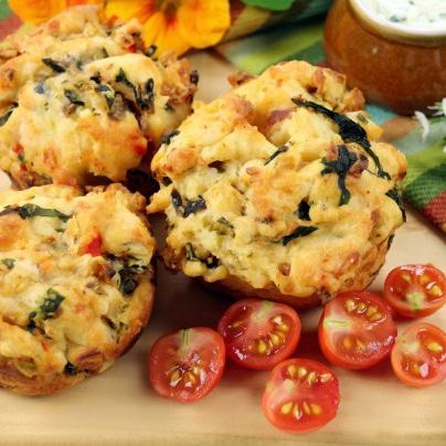 muffins chèvre tomate