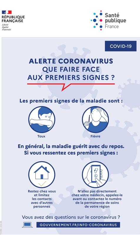 symptômes coronavirus